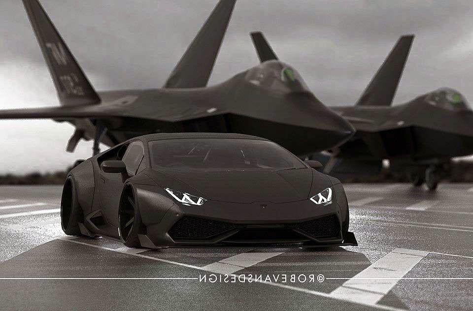Lamborghini Huracan By Liberty Walk Resembles A Fighter Plane