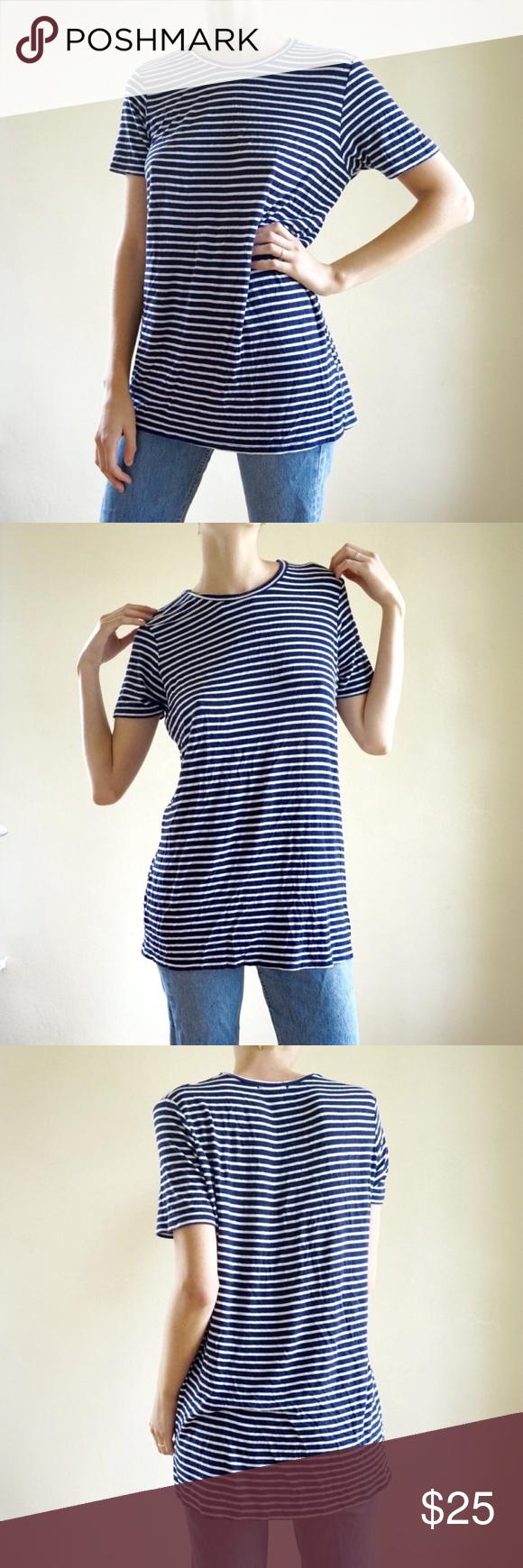 4fc0f390bb1c Brandy Melville Luana shirt dress Brandy Melville navy and white short  sleeve tunic / tshirt dress