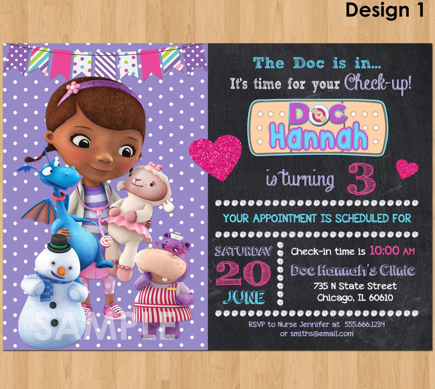 Awesome Create Doc Mcstuffins Birthday Invitations Free Check More At