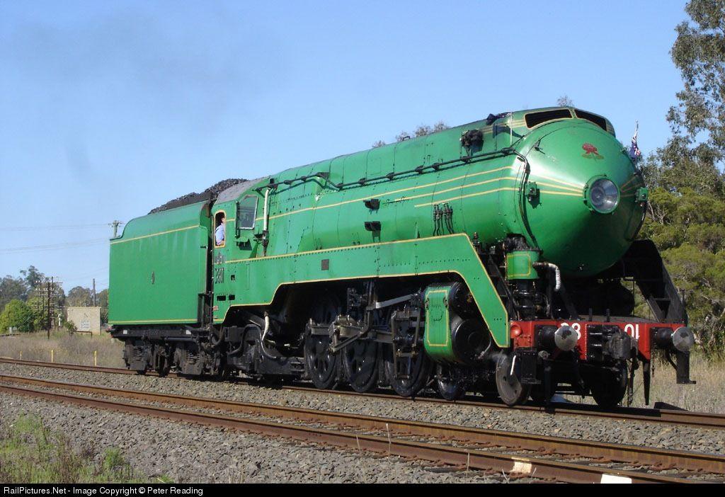 Heritage steam 3801 runs around its train light