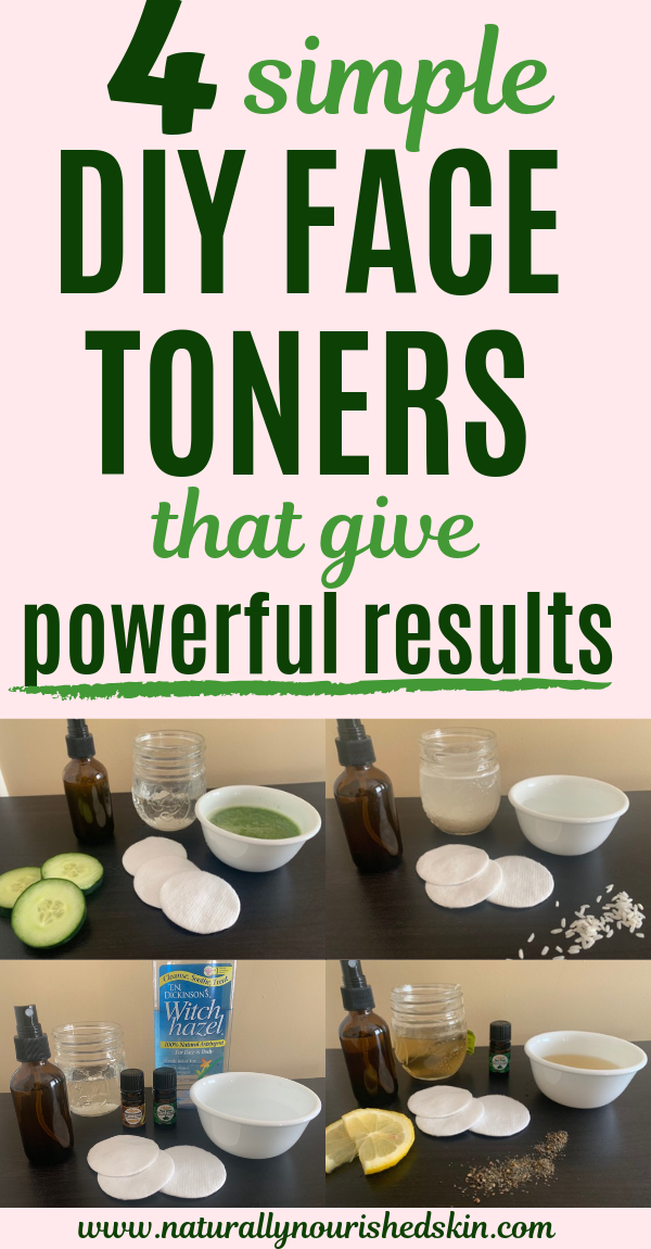 4 Simple DIY Face Toners That Give Powerful Results #skincare