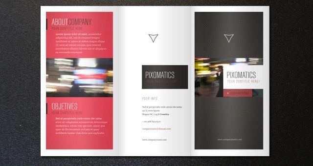 corporate tri fold brochure template free design resources