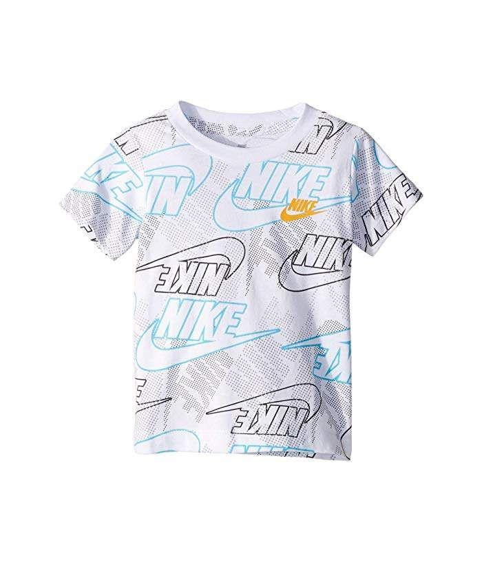 Nike Little Boys Logo print Tee shirt Blue New