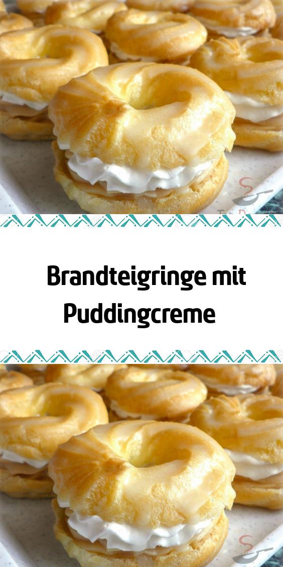 Brandteigringe mit Puddingcreme #tortegeburtstag