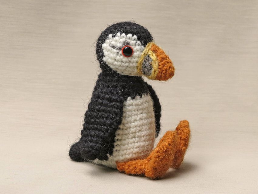 With utter joy, I proudly present my crochet puffin pattern! Meet ...