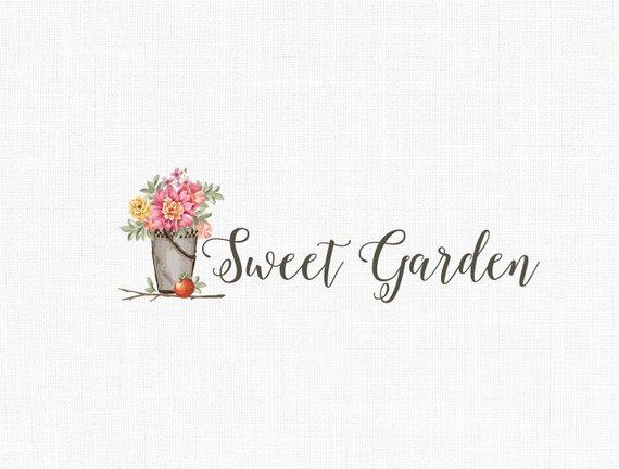 Custom Photography Logo Home Decor Logo Garden Logo Vintage Logo