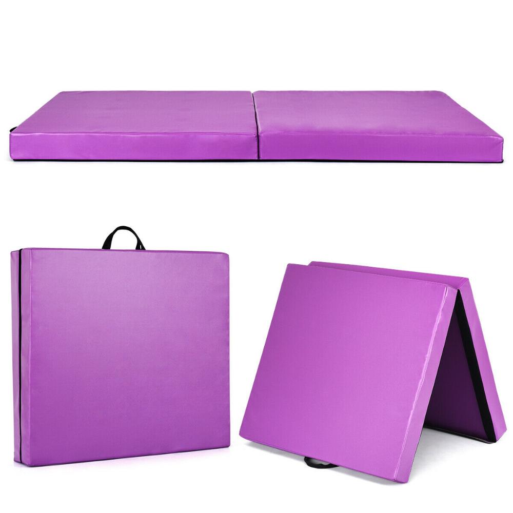 Costway 6''x38''X4'' Thick Two Folding Panel Gymnastics