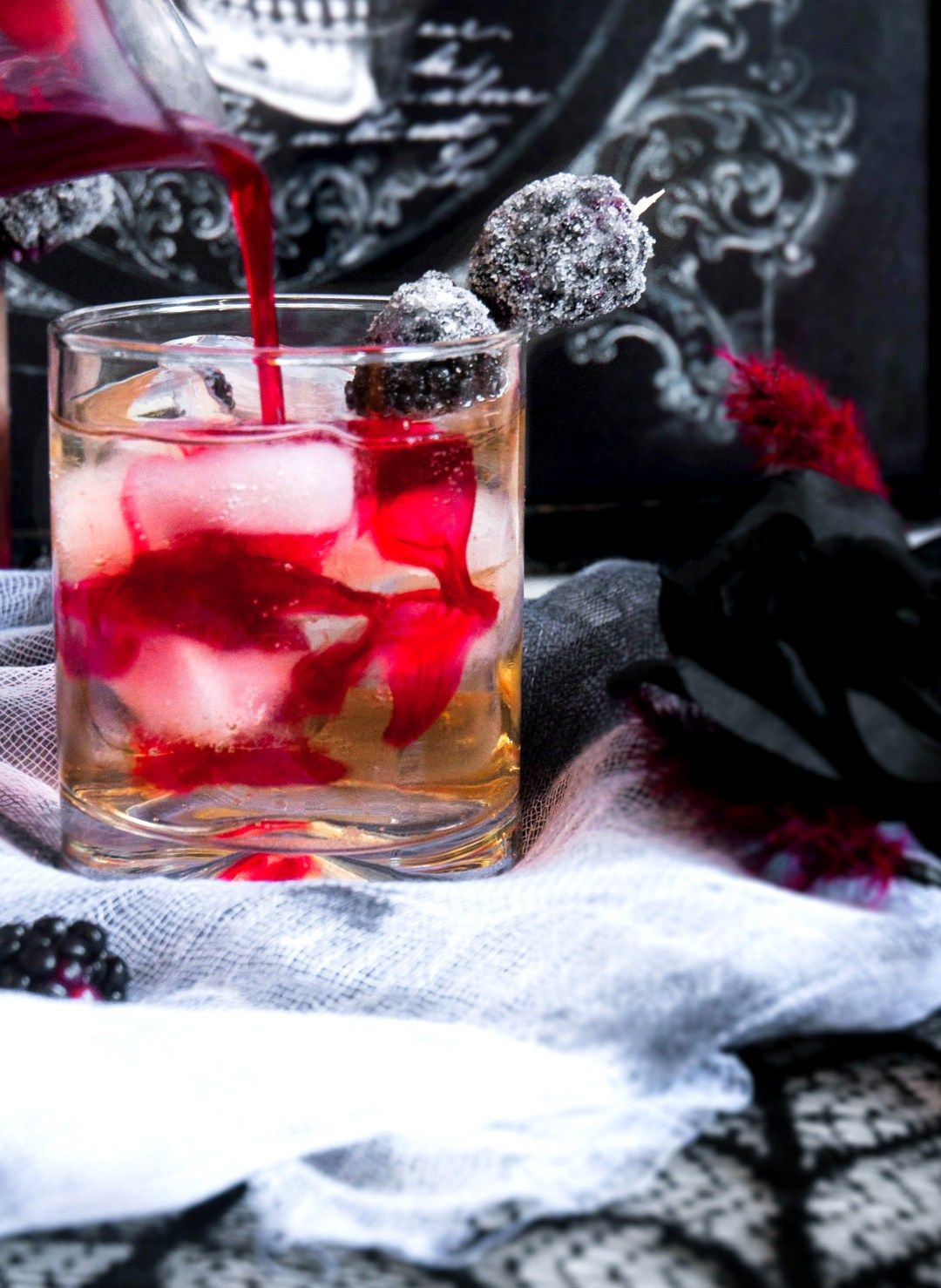 The Bleeding Heart Vodka Halloween Cocktail Quarter Soul Crisis Halloween Cocktails Blackberry Ginger Ale Cocktails