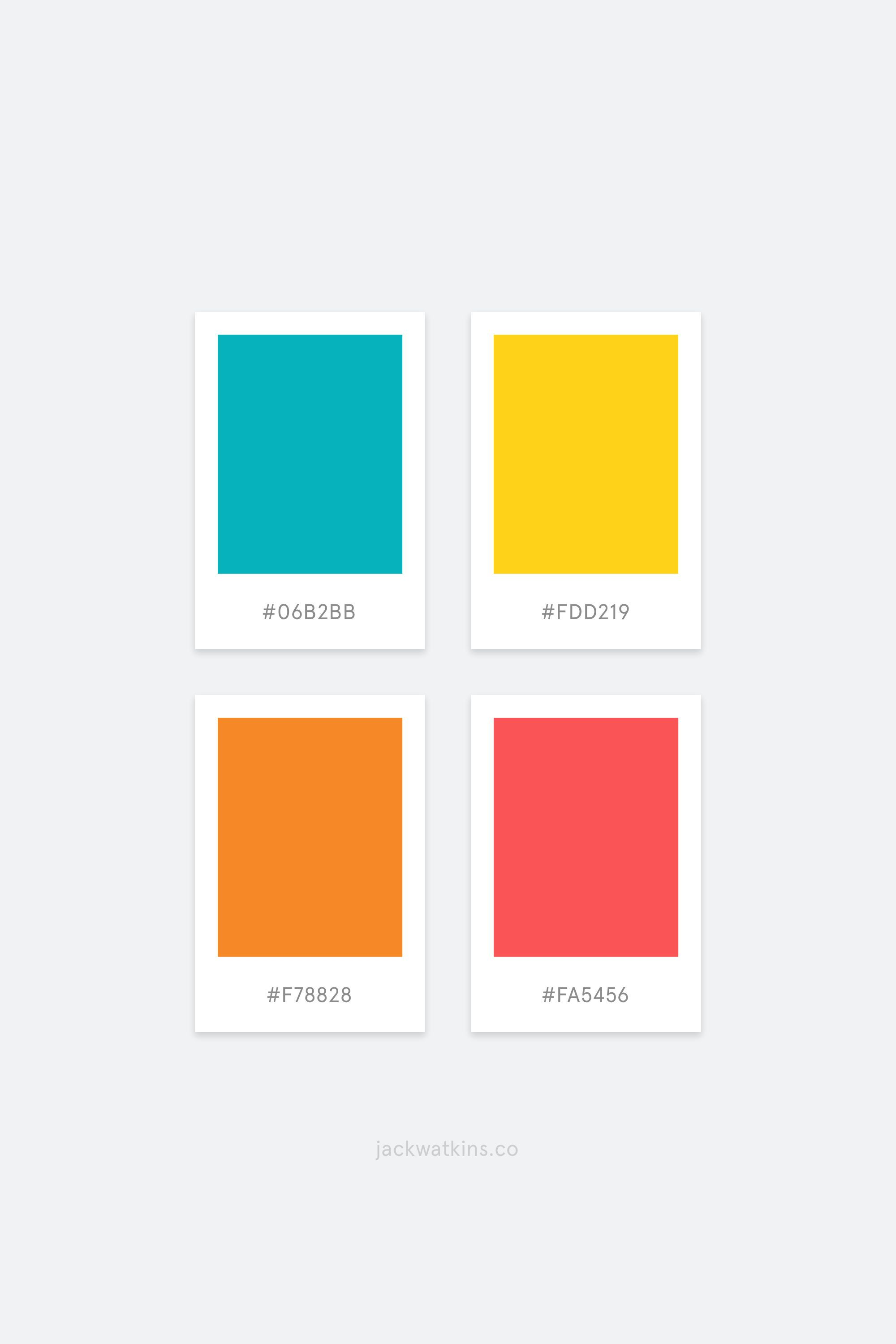 Bright Colourful And Modern Brand Color Palette Curated By Jack