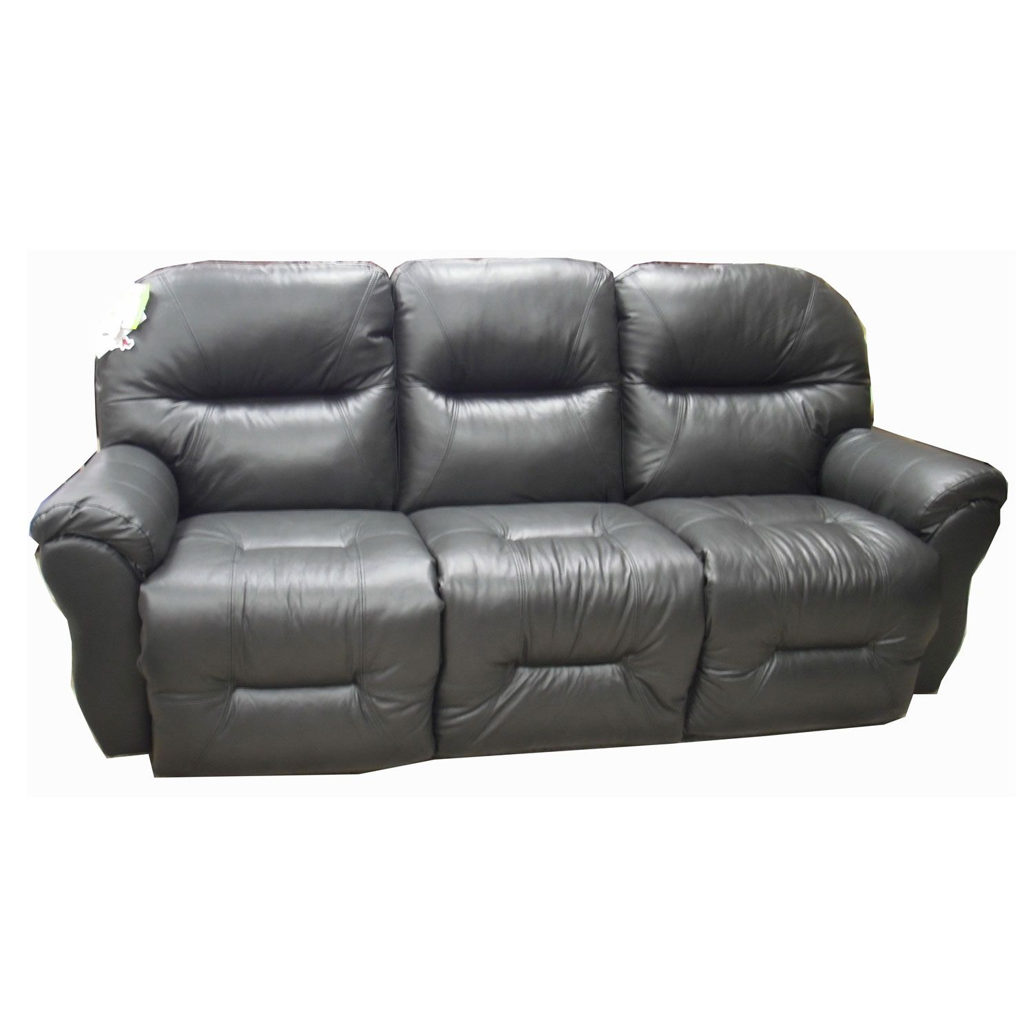 Best Bodie Leather Reclining Sofa, Style Number: S760CA4 Leather Cover Number: 73013-L Charcoal. Made in the USA!
