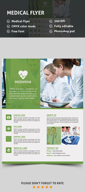 medical psd flyer template graphic designs pinterest flyer
