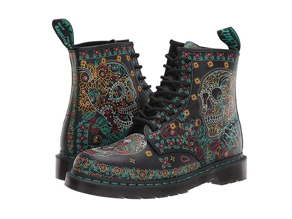 Dr. Martens 1460 Skull Shoes Multi Day of the Dead Backhand