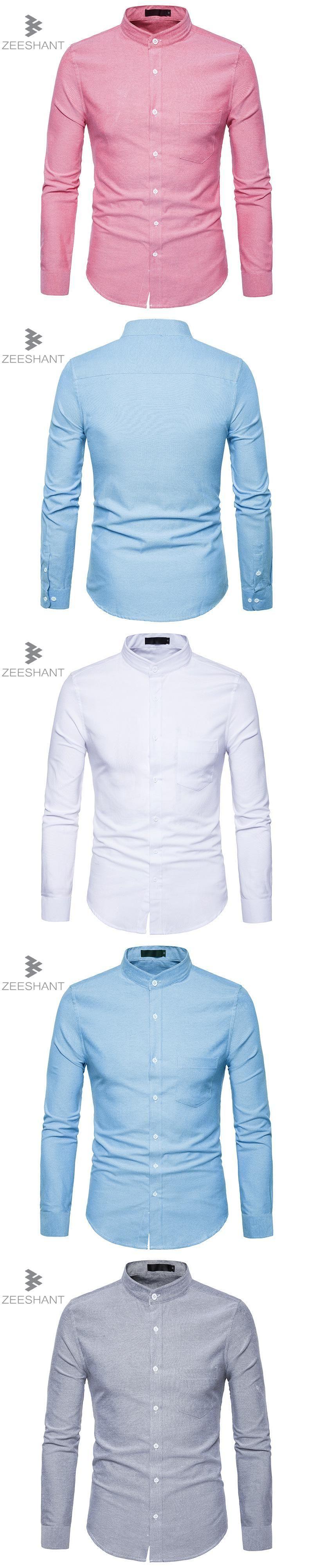 Zeeshant Solid Color Men Shirt Tuxedo Shirts Bridegroom Wedding ...