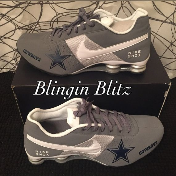 Mens sz 13 Dallas Cowboys Nike Shox can be by BlinginBlitz 9821ccc0d