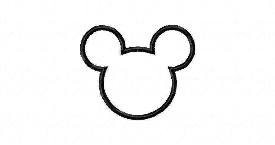 Mickey Mouse Outline Tattoo H