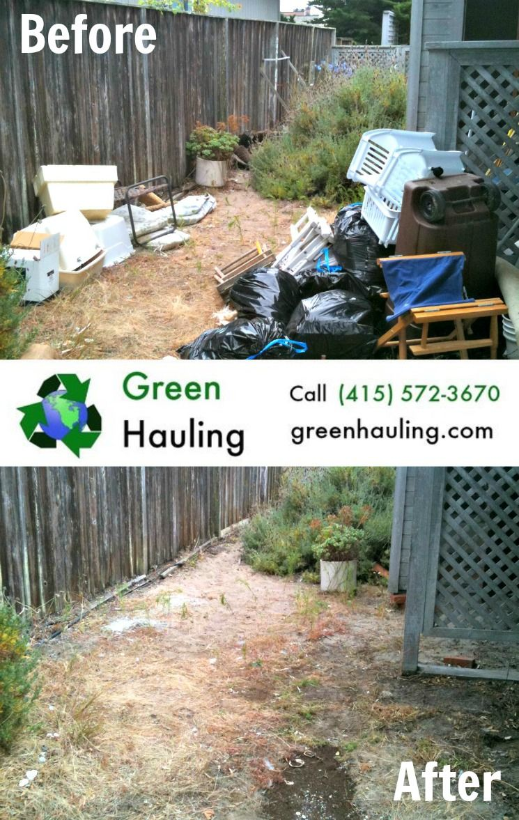 clean up that neglected side yard with one phone call to green