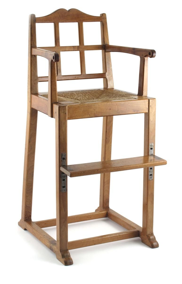 An arts and crafts cotswold school walnut childs chair