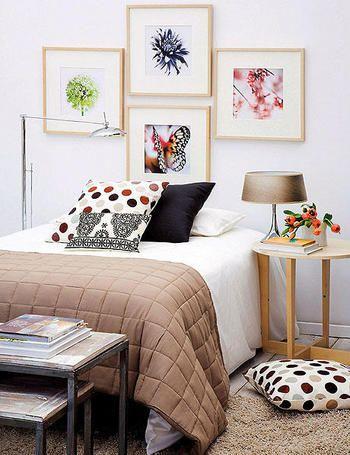 Cabecera con cuadros cuadros pinterest camas - Cabeceros cama originales caseros ...