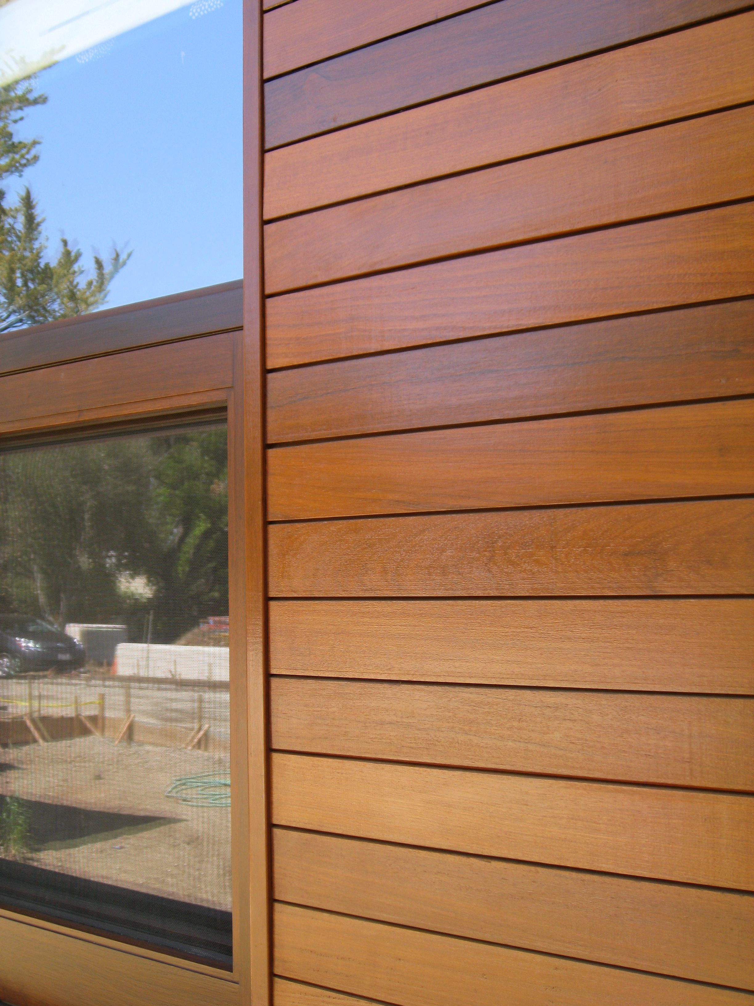 Climate shield rain screen wood siding system ipe