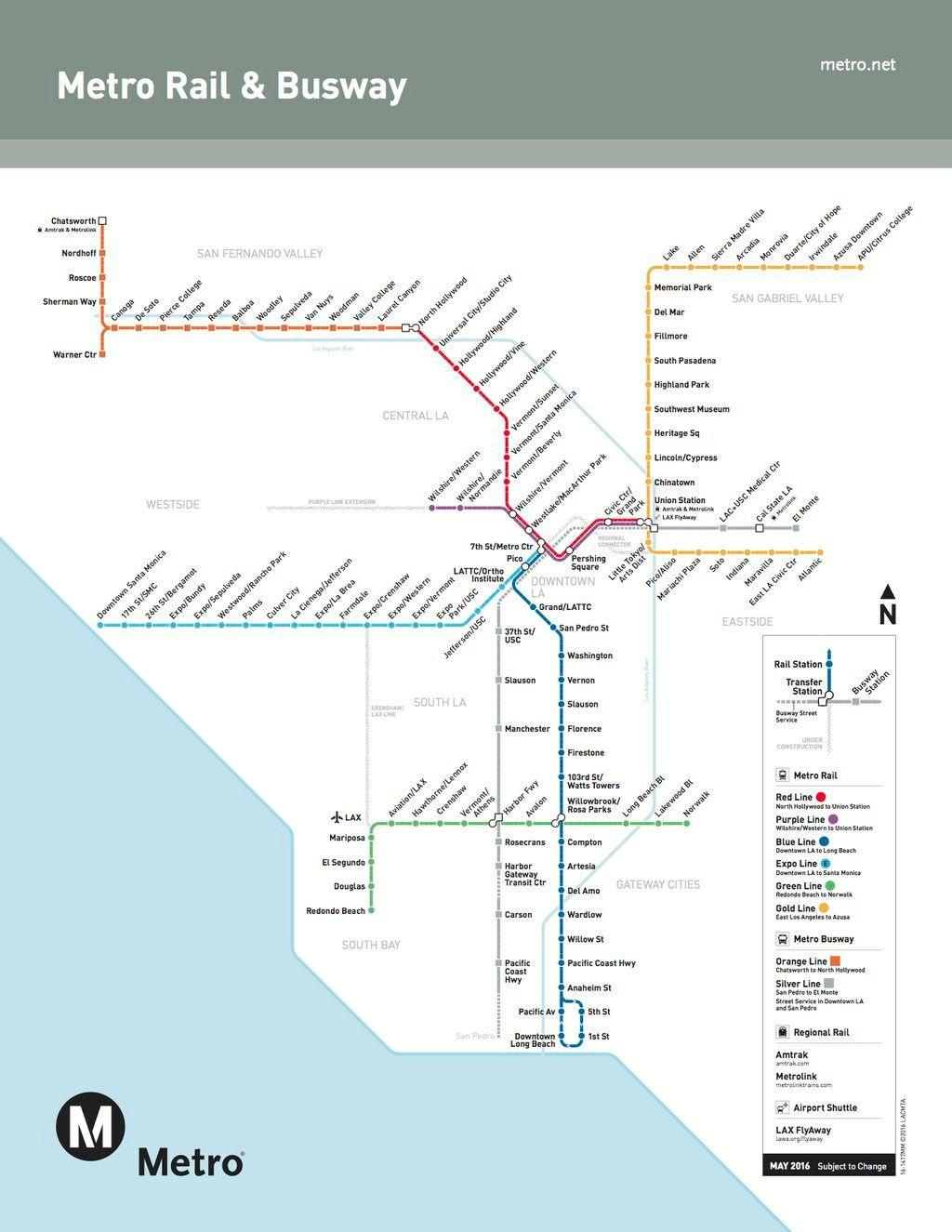 Transitmaps La Metro Metro Rail Los Angeles Metro Map
