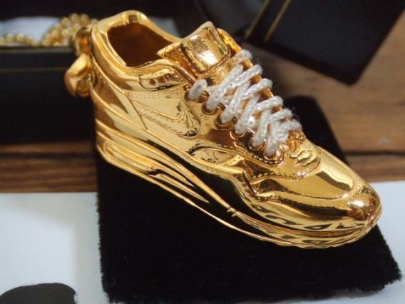 Custom Nike Air obsessie Schoen Max Bling Gold Urist Gabriel 1 pqF544