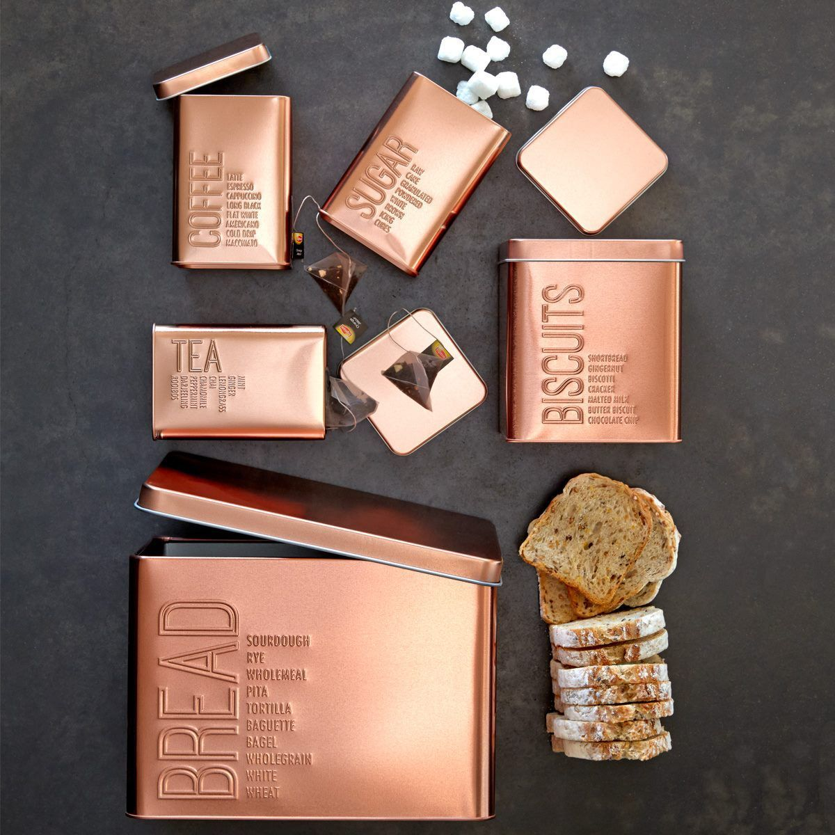 Love these from Kmart Copper canisters, Kmart decor