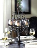 #BLACK Beaded Crystal chandelier #CANDELABRA Candle Holder Wedding centerpiece