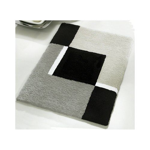 Small Bath Rug Modern Anti Skid Dakota Bathroom Grey 217 X 256 To View Further For This Item Visit The Image Link It Is An Affiliate