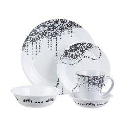 corelle impressions 20 pc dinnerware set lace corelle dinnerware corelle corelle dishes on kaboodle kitchen navy id=51677