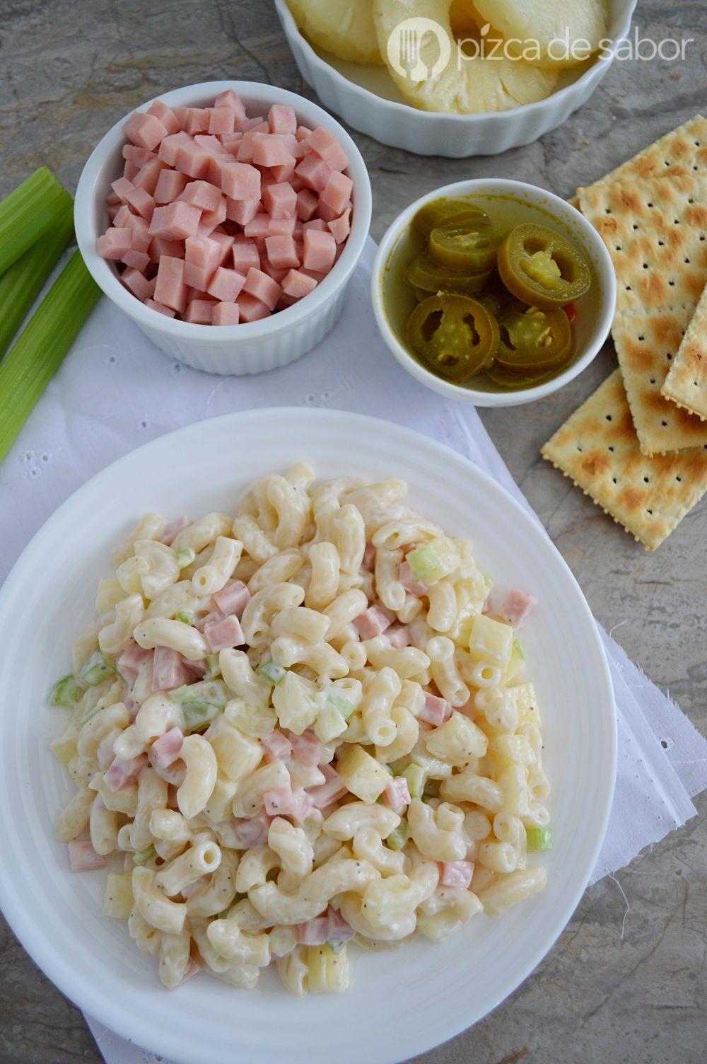 ensalada de coditos hawaianos recipe yummy stuff pasta