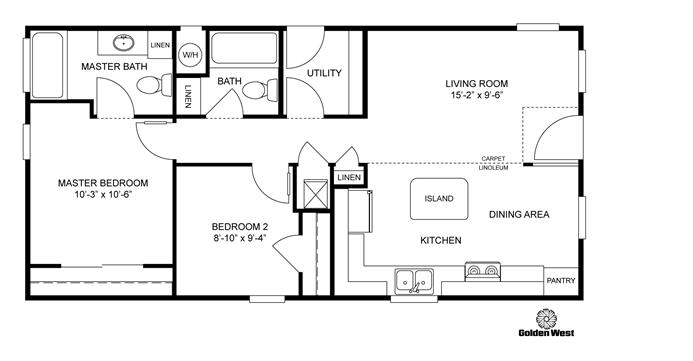 interactive floorplan gp401p 71gop20402ah clayton. Black Bedroom Furniture Sets. Home Design Ideas