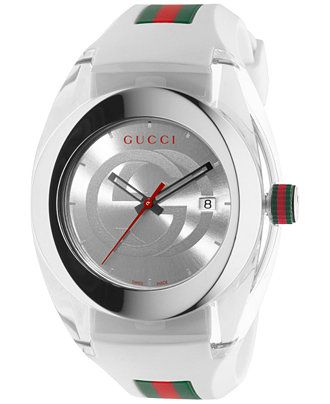 c027c7f2394 Gucci SYNC white rubber watch — clean