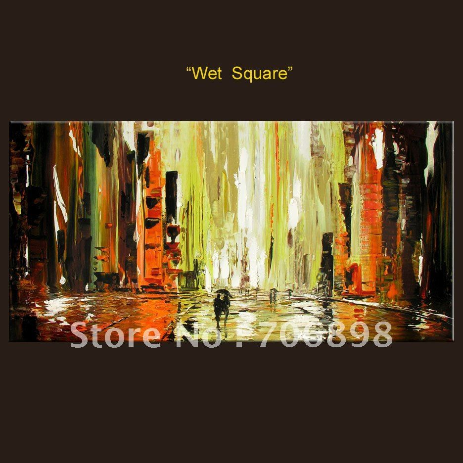 100% Handpainted Huge Wall Art Palette Knife Painting on Canvas ...