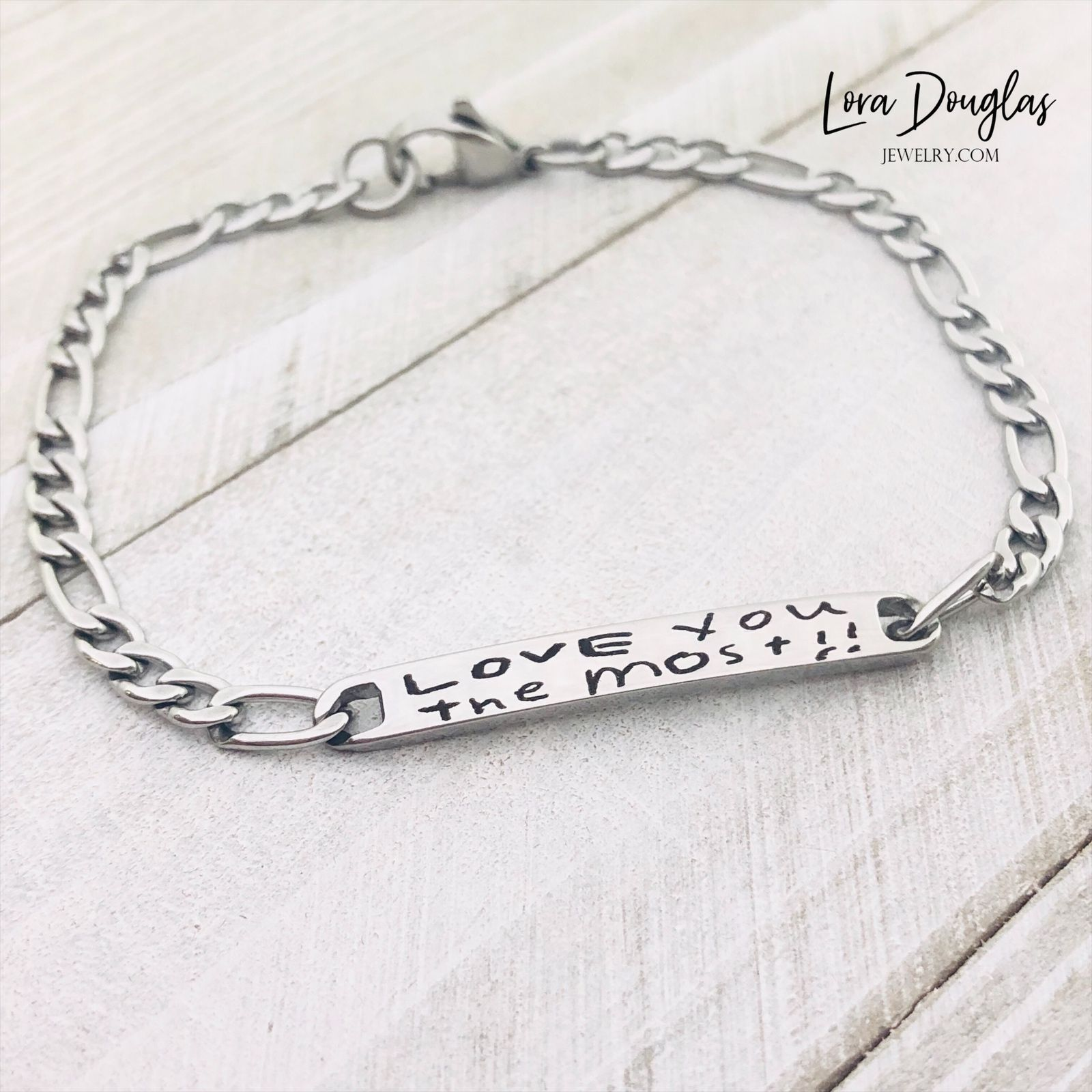 No I Love You More This Handwriting Bracelet Was
