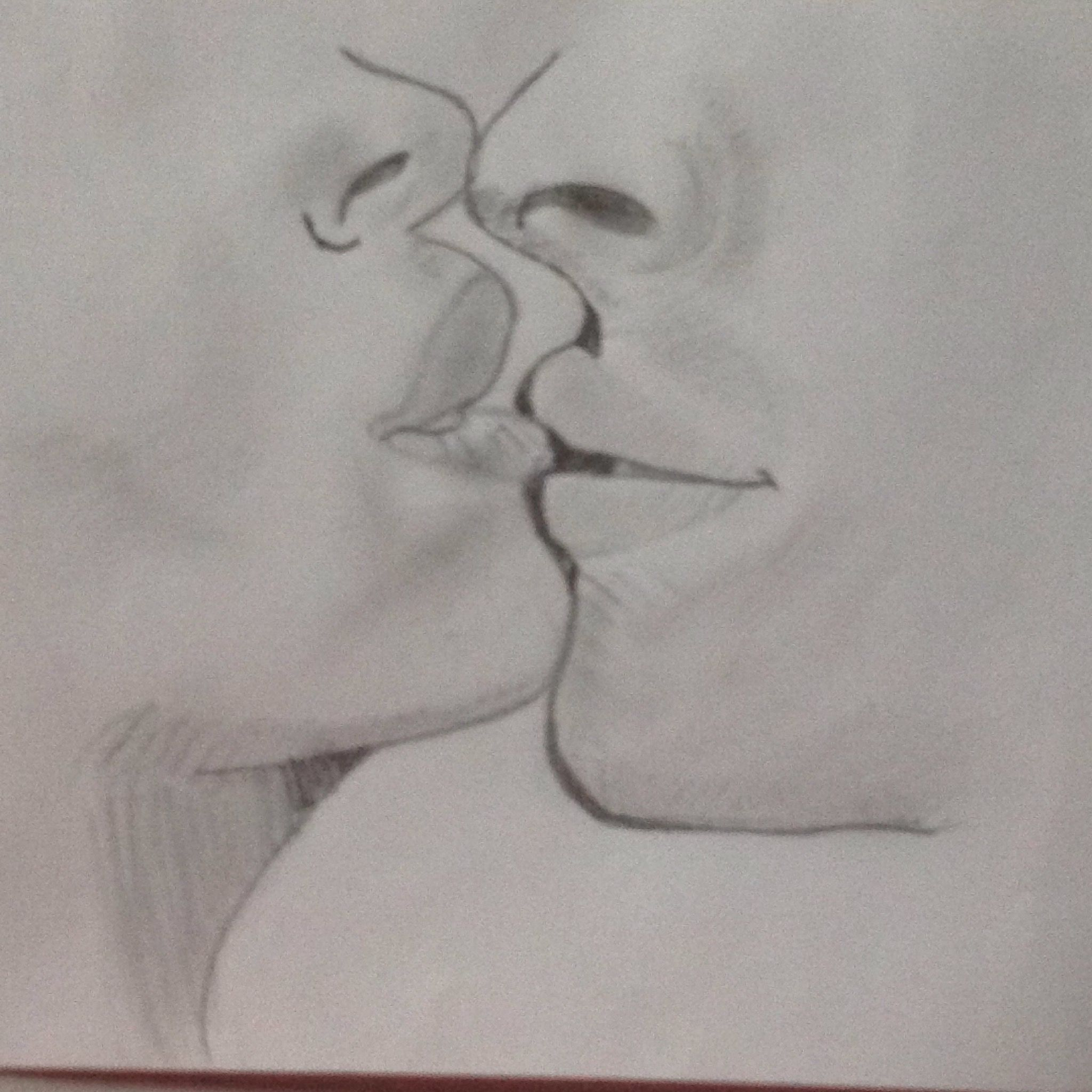 Dibujo Lapiz Beso Amor Besos Amor Dibujos Besos