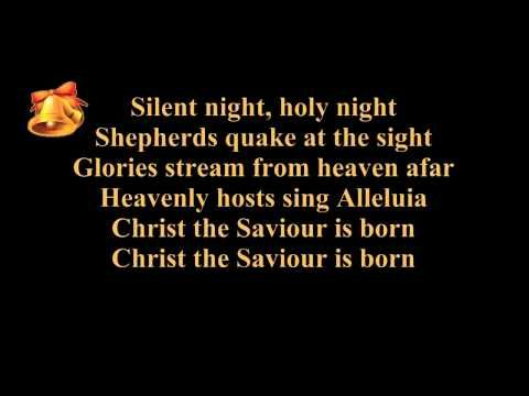 Silent Night Lyrics Karaoke Instrumental Music Piano And Strings Christmas Song Carol Nights Lyrics Silent Night Christmas Song