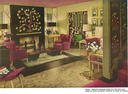 1940s decor from an armstrong flooring brochure vintage for Armstrong design a room
