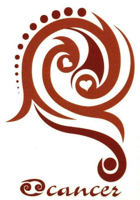 Amazon Cancer Zodiac Sign Temporary Body Art Tattoos 25 X 35