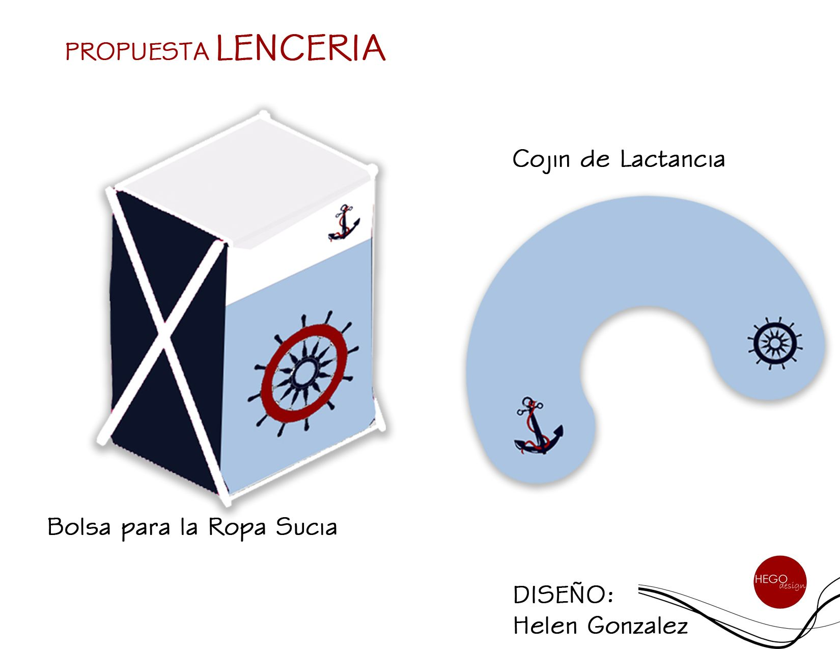 Diseño Lenceria... Motivo Marinero