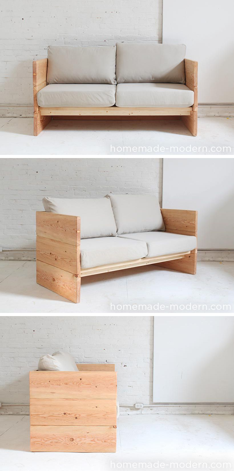 Homemade Furniture Sofa Diy Couch Bed Modern