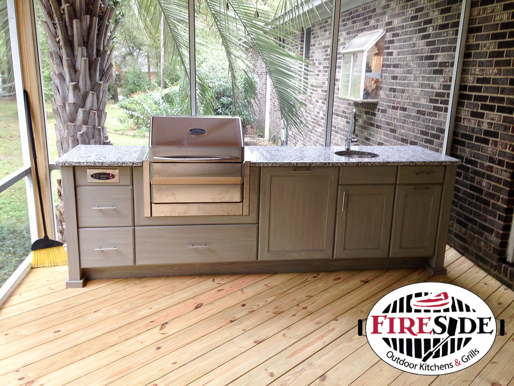 Naturekast Cabinetry Memphis Pro Pellet Grill Outdoor Cabinet Outdoor Kitchen Outdoor Kitchen Plans