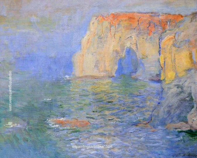Claude Monet The Manneport, Reflections of Water, 1885 painting online, painting