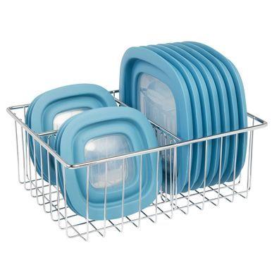 Metal Wire Kitchen Food Container Lid Organizer Bin #kitchenpantrystorage