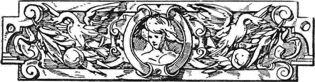 Vintage Book Ornament Clip Art Image
