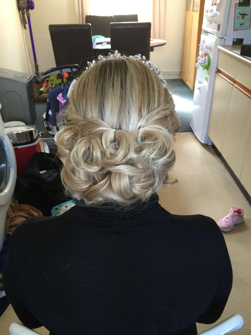 Wedding hair trial hair pinterest