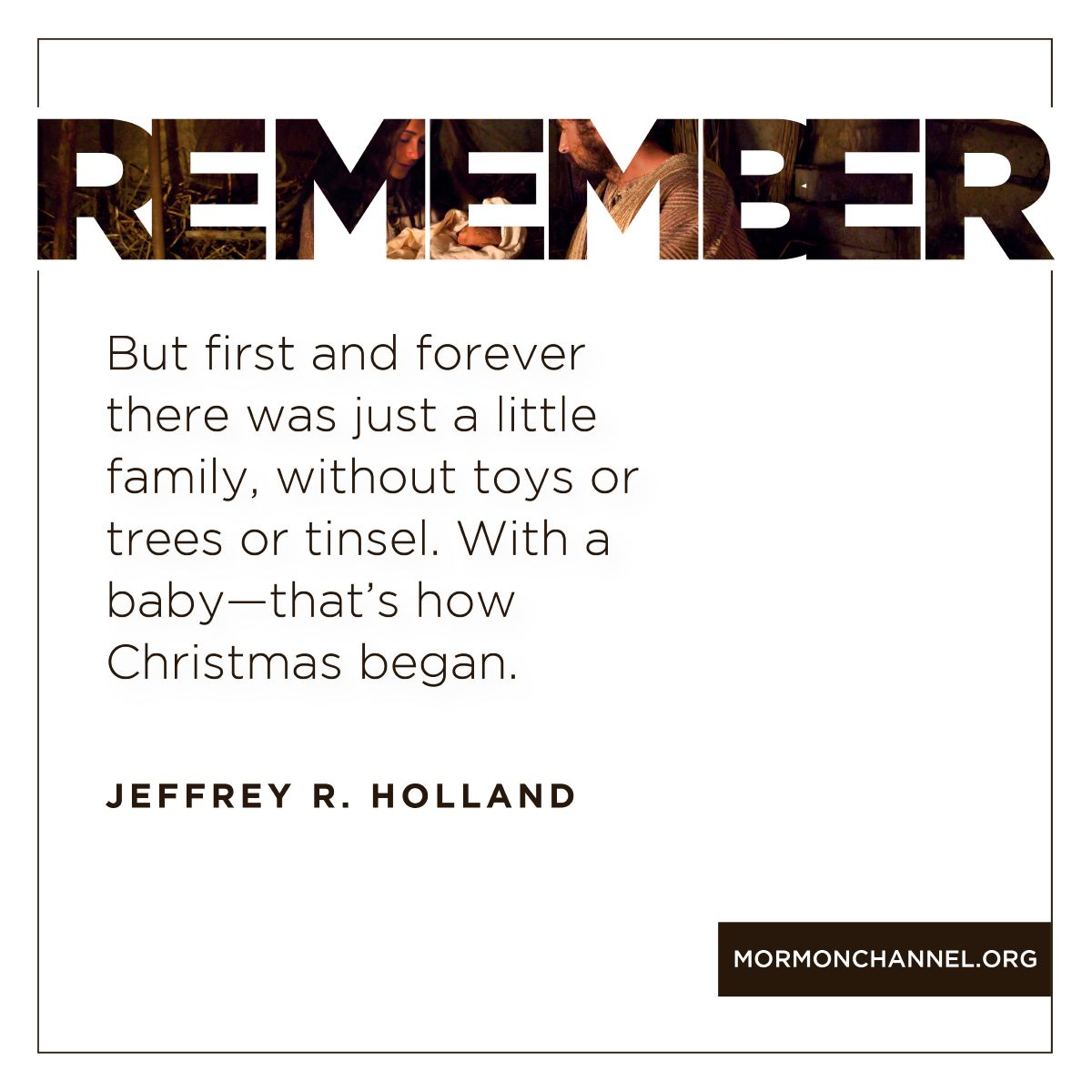 109 Best Christmas Lds Images On Pinterest: Elder Holland Christmas Quote