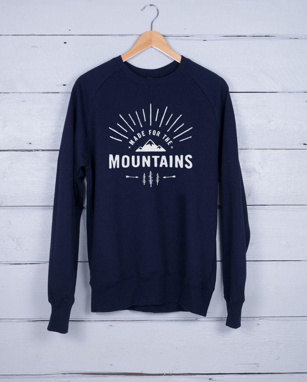 Sweater met zeefdruk (donkerblauw) via Hutshop. Click on the image to see more!