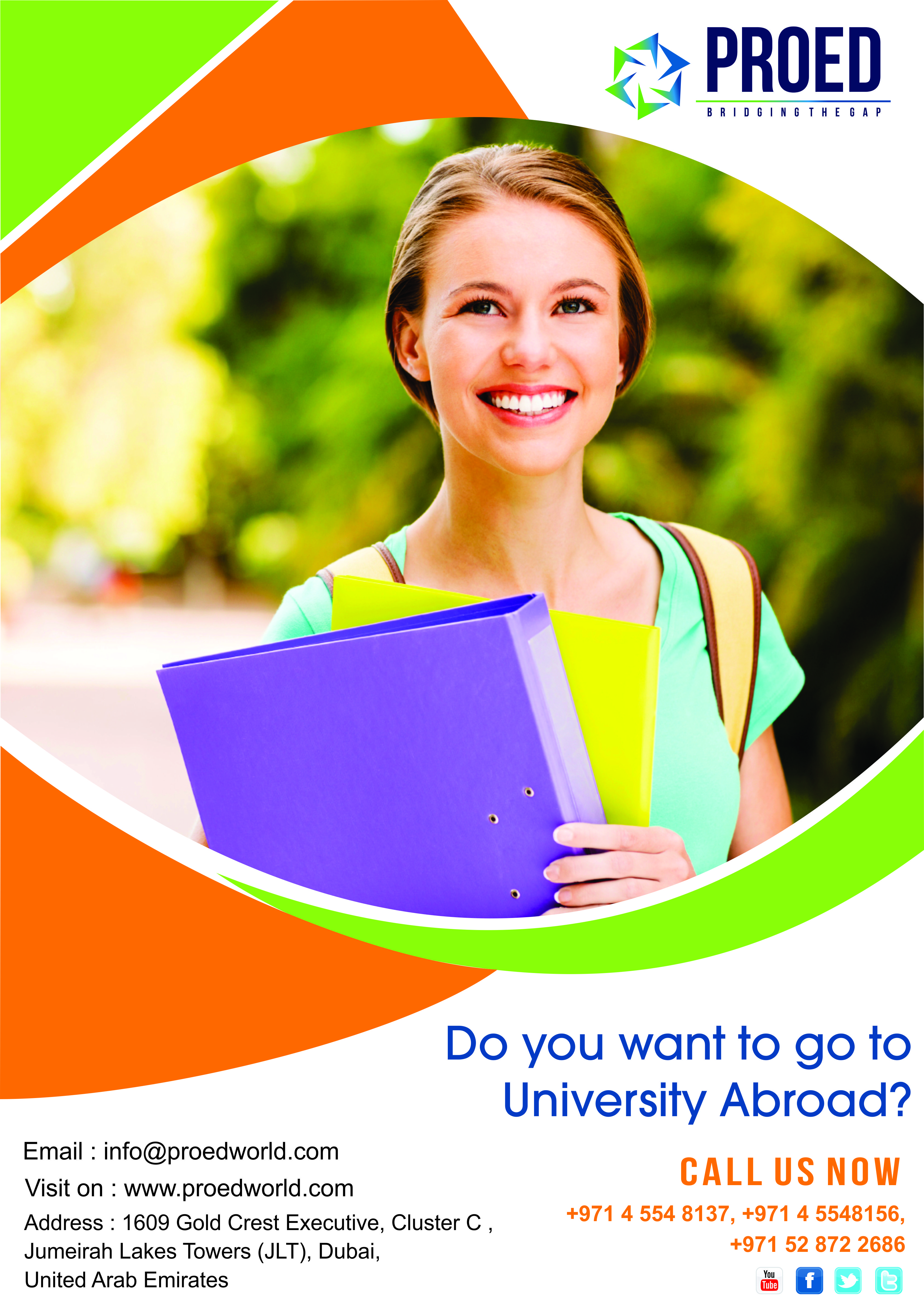 Give wings to your dreams Study Abroad. Consult our