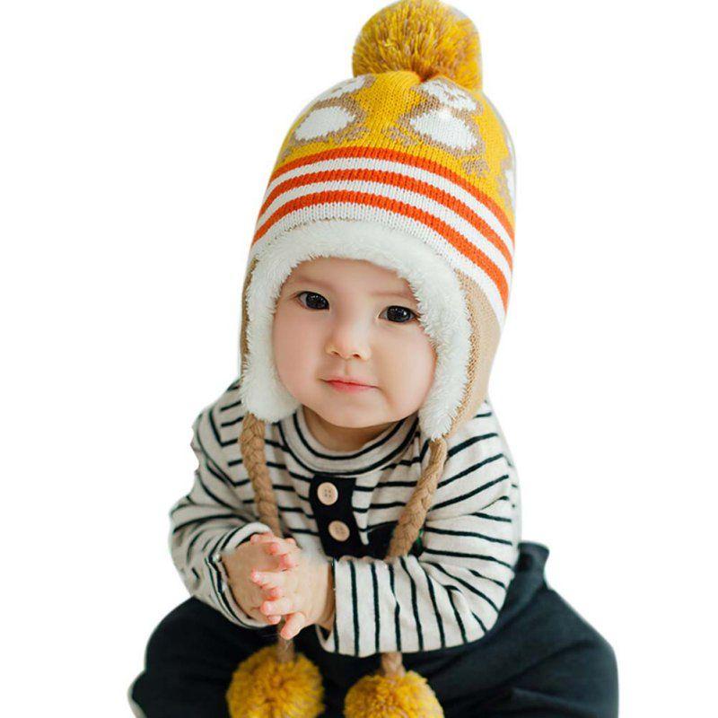 338c8303a Winter Warm Korean Version Cute Baby Hat Penguin Newborn Colorful ...