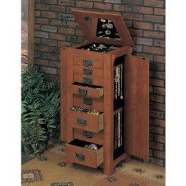 MISSION STICKLEY STYLE JEWELRY ARMOIRE Want this for my room I